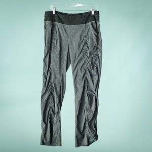 Lucy Large Gray Black Straight Leg Track Pants